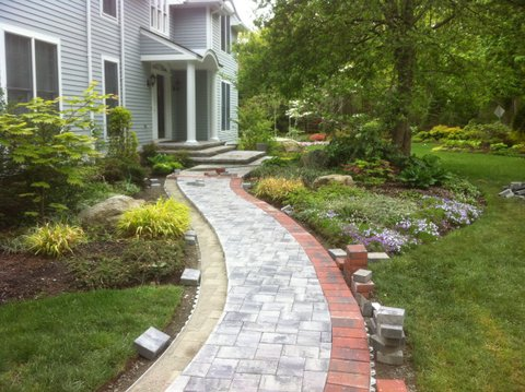 stamped concrete portfolio affordable landscaping tree